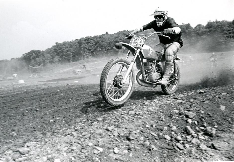 "Vintage ""Big Dave"" on the throttle at Appalachia Lake, WV, circa 1973."