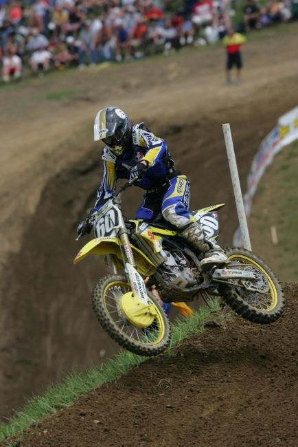 Pictured above from 2004, Hepler earned second overall at the High Point National in the 125MX class.