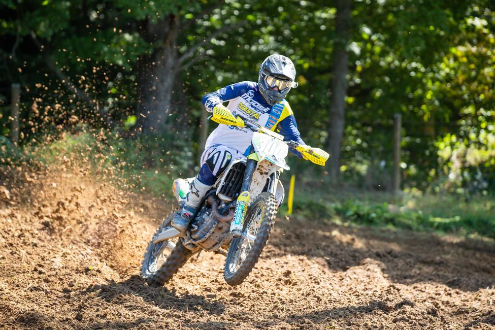 Ben Parsons picked up the Pro overall win after battling it out with Ryan Lojak and Nick Fratz-Orr in the GP Moto-X Country racing. Photo: Andrew Fredrickson