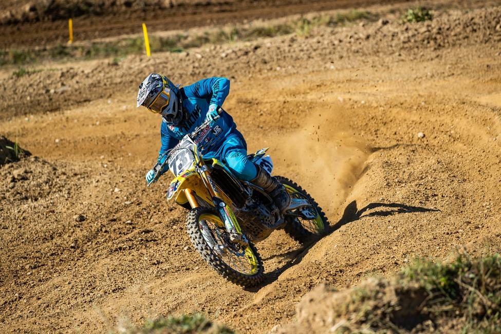 Steve Roman Jr. earned the 25+ A and Revolution 2 overall wins on Sunday during the Big Dave Vet Homecoming motocross racing. Photo: Andrew Fredrickson