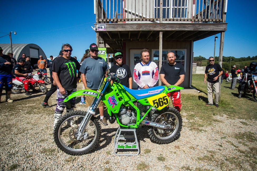 Bobby Show pictured with his new replica motorcycle, thanks to some special friends! Photo: Andrew Fredrickson
