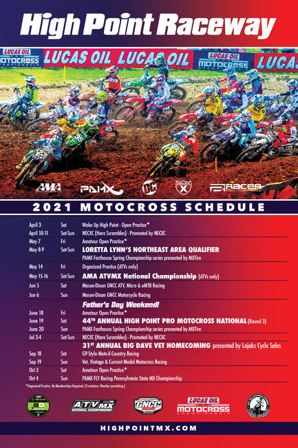 Click HERE for a full 2021 High Point Raceway Schedule.
